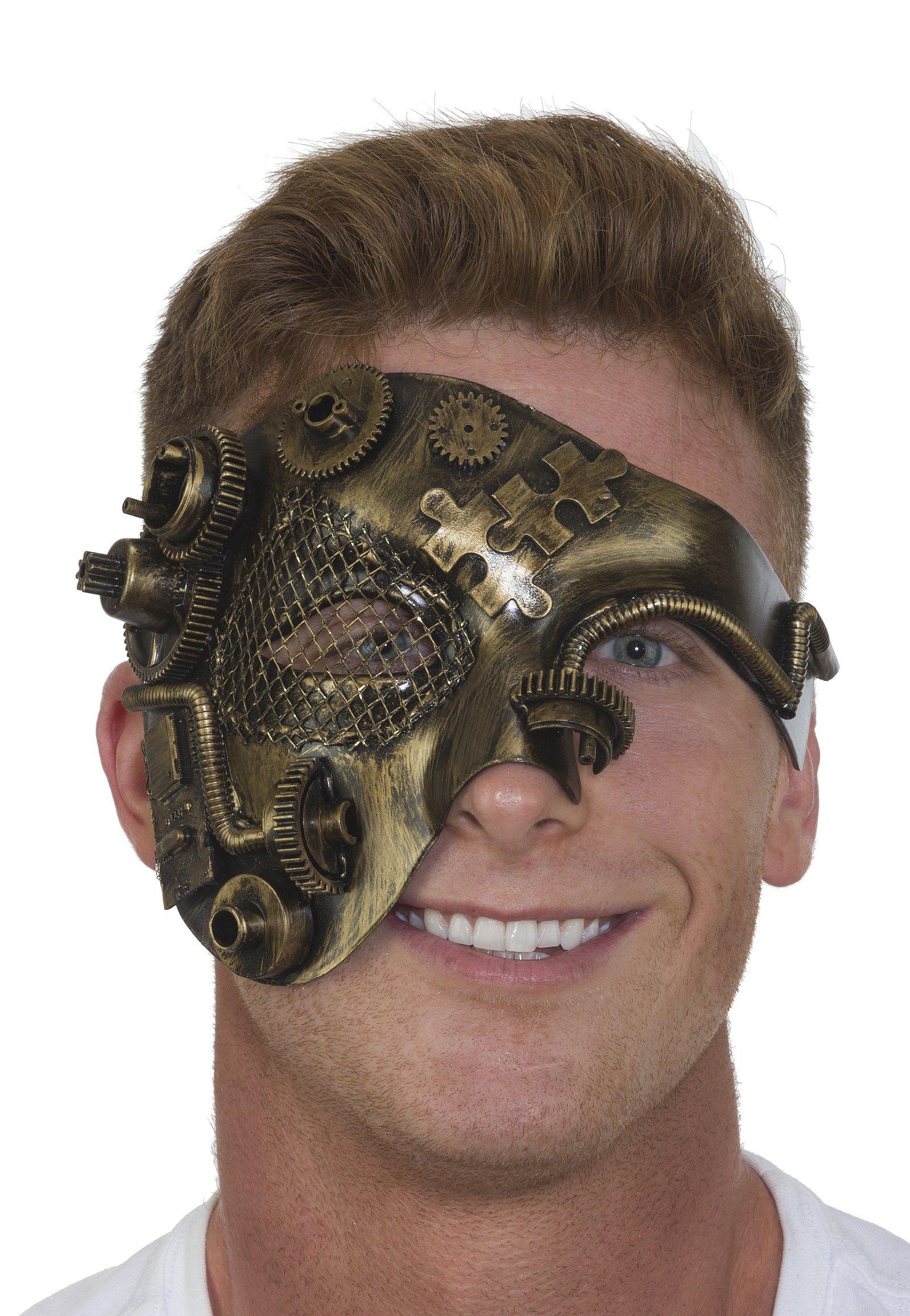 27897 Steampunk Bronze Half Mask Industrial