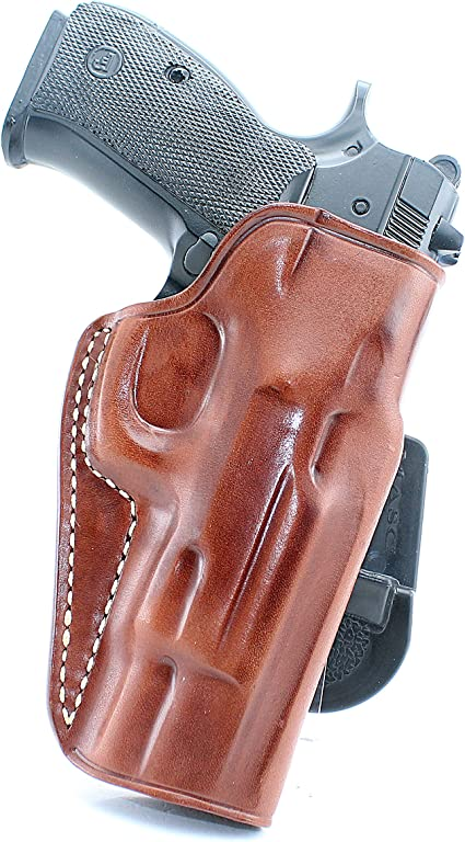 PADDLE HOLSTER FOR CZ 75C.OWBLEATHER PADDLE WITH ADJUSTABLE CANT.