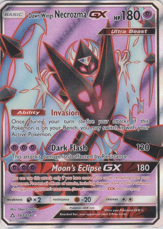 Dawn Wings Necrozma GX 143//156 Ultra Prism Ultra Rare NM Pokemon Card Full Art