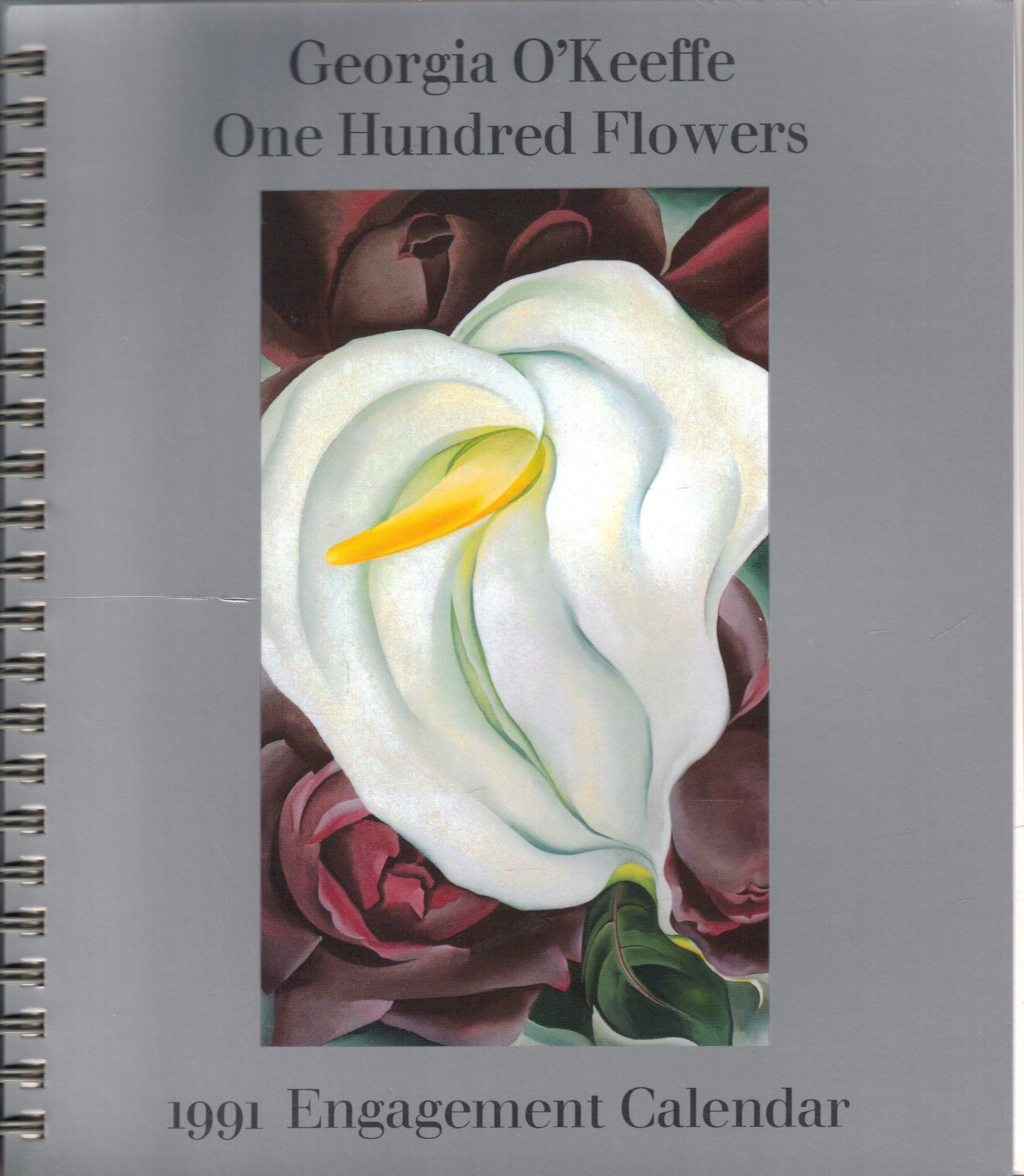 georgia okeeffe 100 flowers 1991 engagement calendar