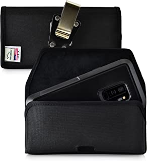 product image for Turtleback Belt Clip Case Compatible with Samsung Galaxy S9 Plus + w/Otterbox Pursuit case Black Holster Nylon Pouch with Heavy Duty Rotating Belt Clip Horizontal Made in USA