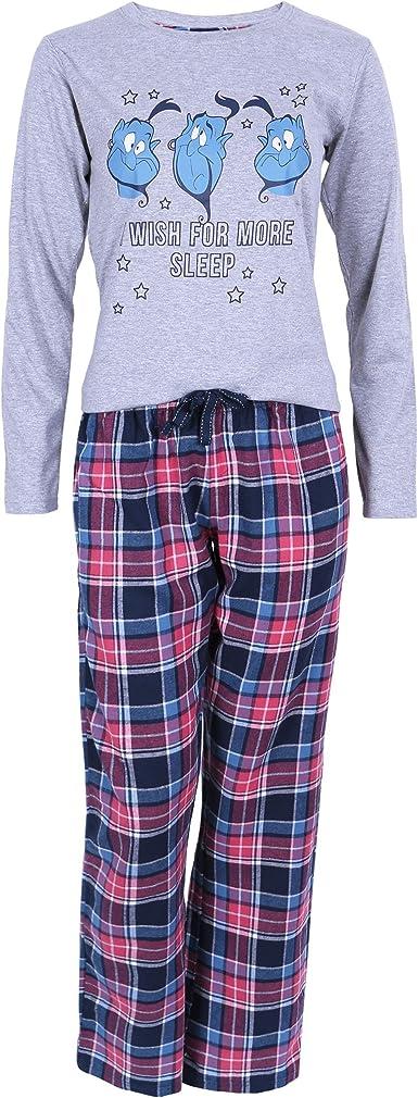 Disney - Aladdin - Pijama - para mujer Gris gris: Amazon.es: Ropa