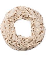styleBREAKER Punkte Muster Loop Schlauchschal, seidig leicht, Tuch, Damen 01016111