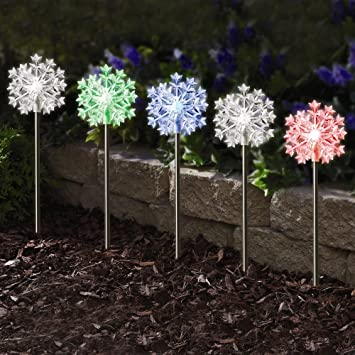 Amazon westinghouse 5 snowflake color changing outdoor lights westinghouse 5 snowflake color changing outdoor lights mozeypictures Gallery