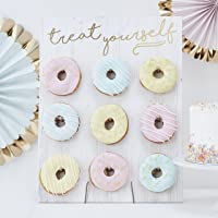 Ginger Ray Gold Foiled Treat Yourself Donut Wall Party Display Fits 9 Doughnuts (PM-375)