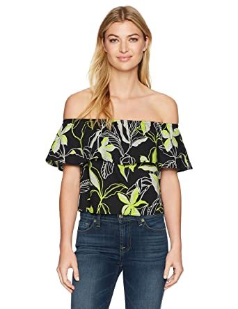 62adba20ea0797 Amazon.com: Splendid Women's Tropical Floral Off the Shoulder Top: Clothing