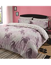 Dreamscene Kids Unicorn Dreams Duvet Cover with Pillow Case Girls Bedding Set Mystical Pink, Single