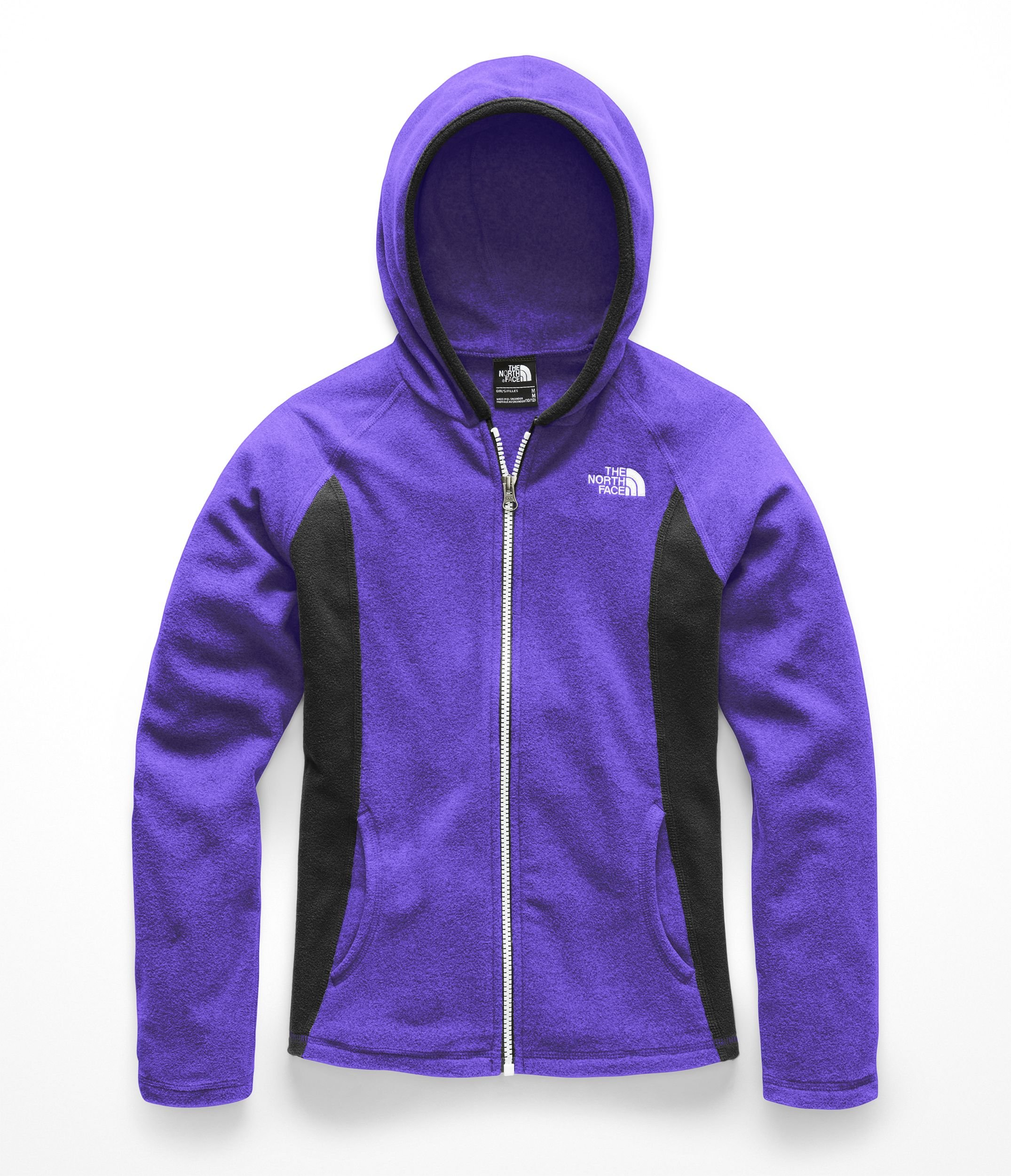 The North Face Girls Glacier Full Zip Hoodie - Deep Blue - S