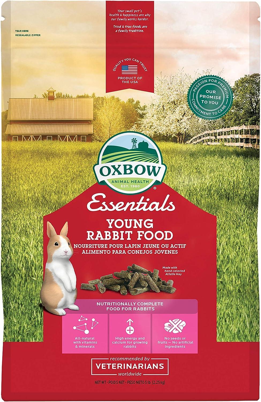 Oxbow Essentials Young Rabbit Food - All Natural Rabbit Pellets - 5 lb.