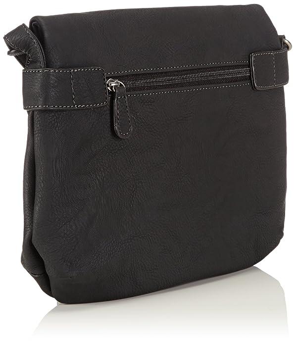 EMMA Crossover Bag 1012999-001 Damen Umhängetaschen 29x23x5 cm (B x H x T), Schwarz (black) Tamaris