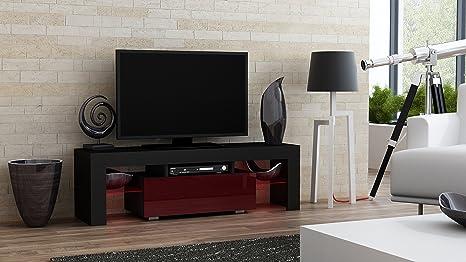 Milano mobile tv moderna tavolo tv con ripiani in vetro e