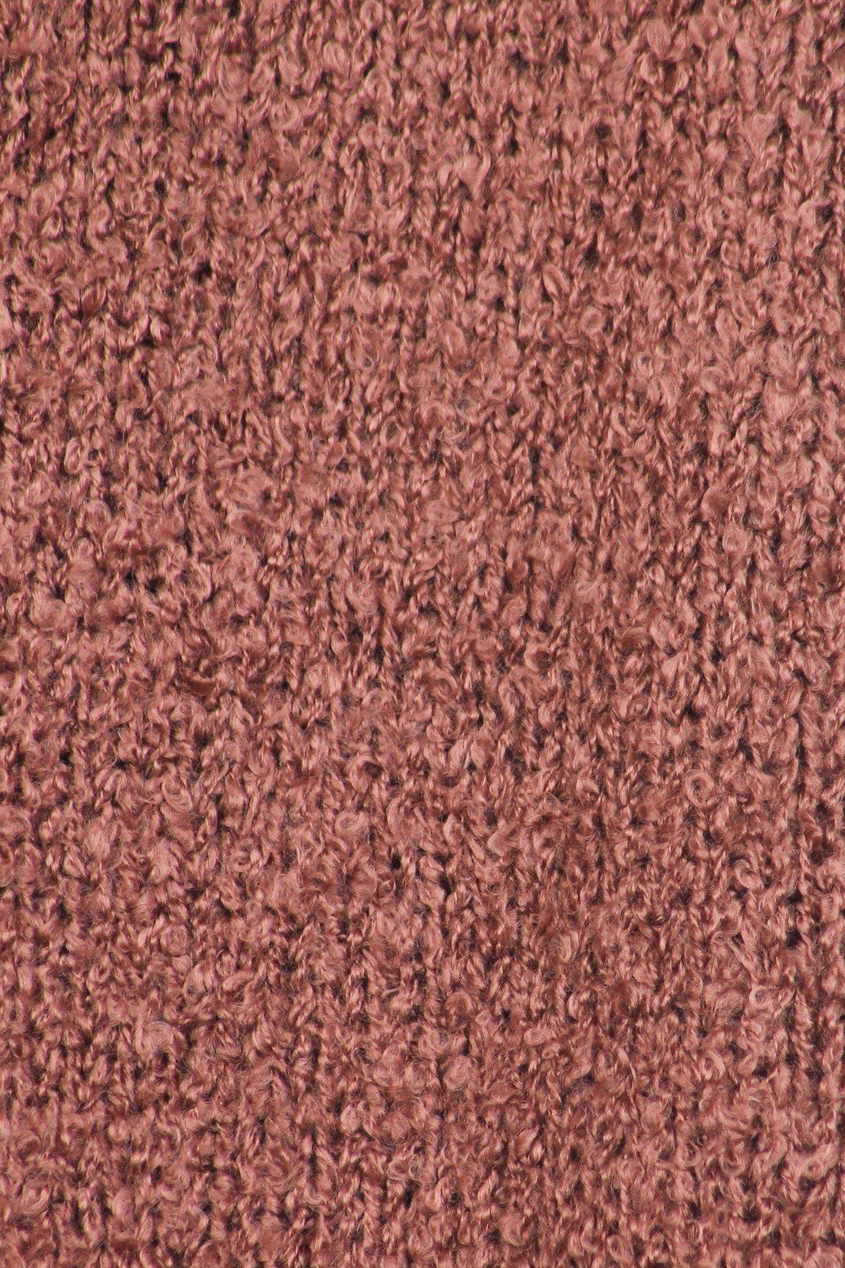 ICONOFLASH Women's Casual Sweater Knit Fringed Fashion Scarf Wrap, Mauve by ICONOFLASH (Image #5)