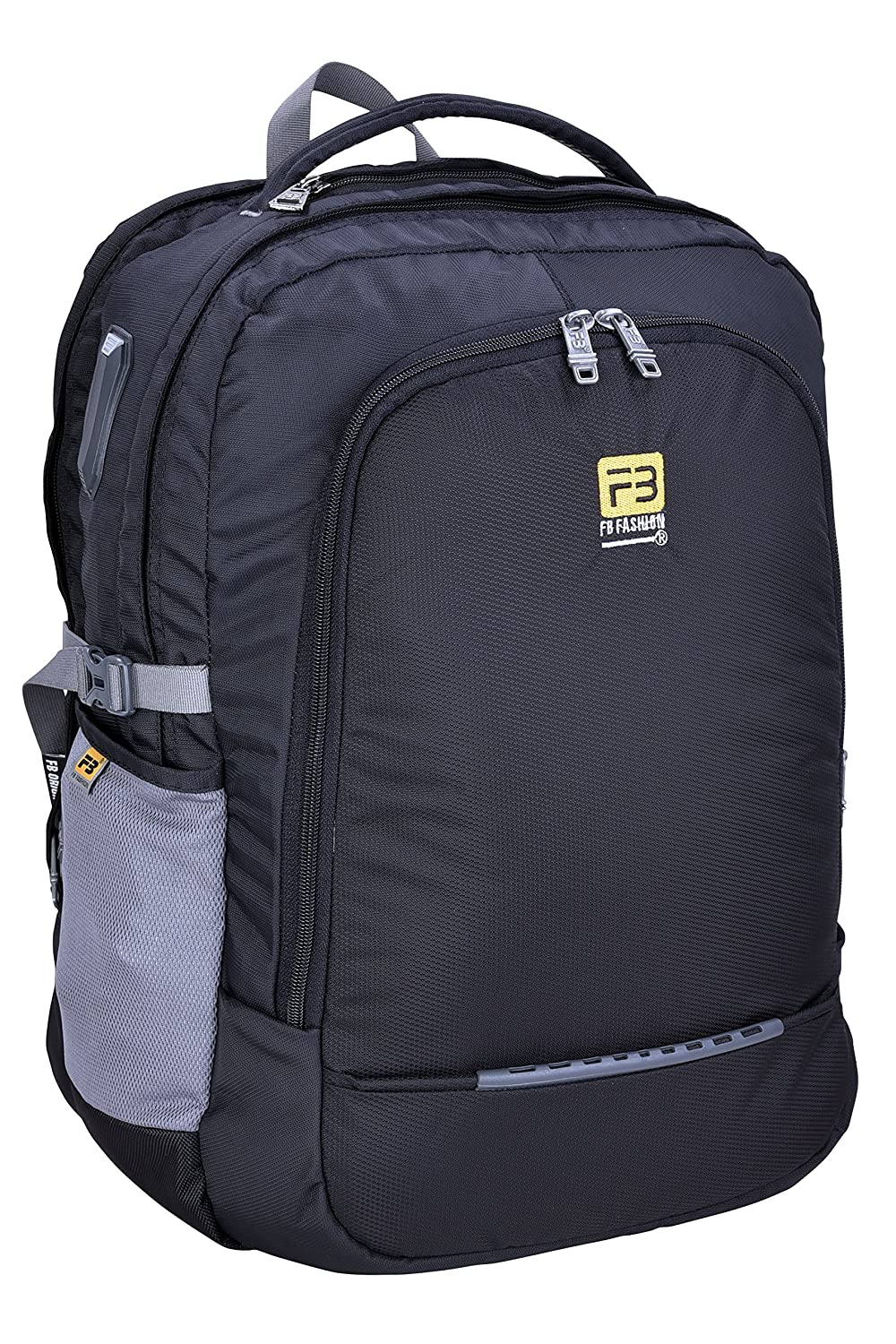 34449e3d082b FB Fashion Bags Polyester 42 Ltr Black   Grey Laptop Backpack - Buy FB  Fashion Bags Polyester 42 Ltr Black   Grey Laptop Backpack Online at Low  Price in ...