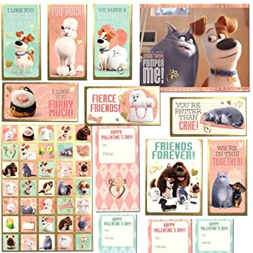 The Secret Life of Pets Valentines Day Classroom Exchange Gift | 32  Valentines, 35 Stickers