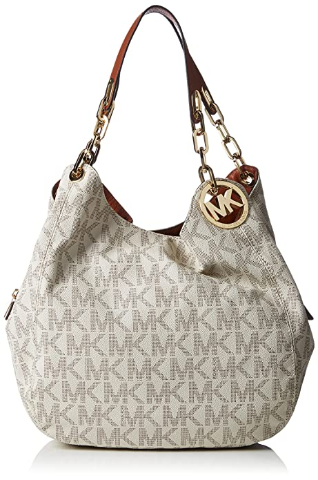 dd9a4c2367fd Michael Kors Fulton Large Logo Shoulder Bag - Vanilla  Amazon.ca ...