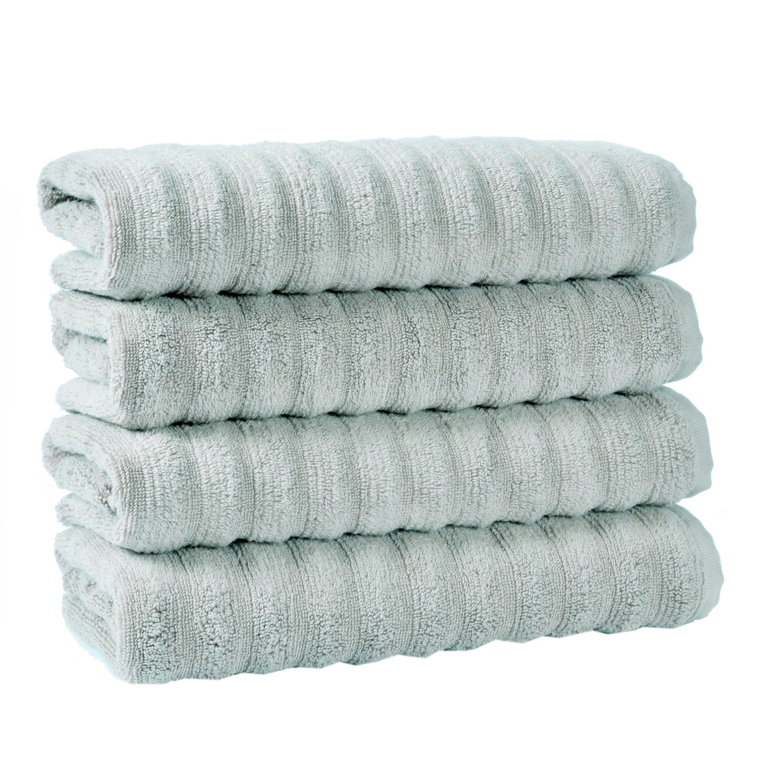 Premium Luxury Hotel & Spa Turkish Cotton Key West Towel Set 28x55 inch (4 Piece) (Seafoam)
