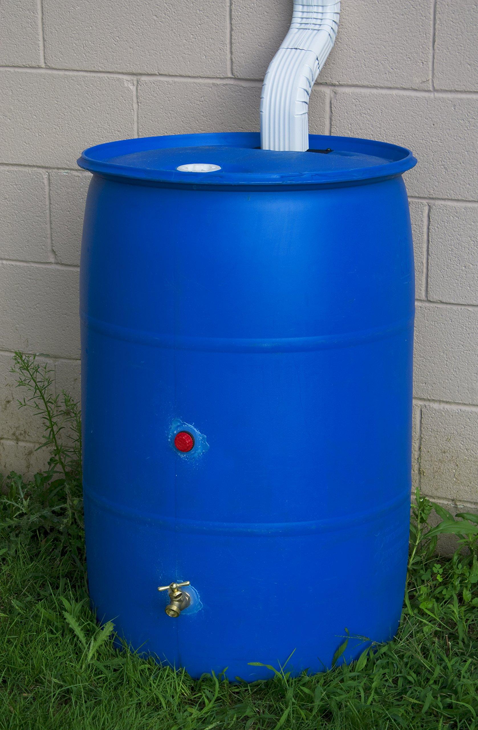 Good Ideas RB55-BLUE Big Blue Recycled Rain Barrel, 55-Gallon by Good Ideas
