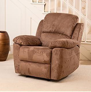 sc furniture ltd grey black reclining fabric material recliner