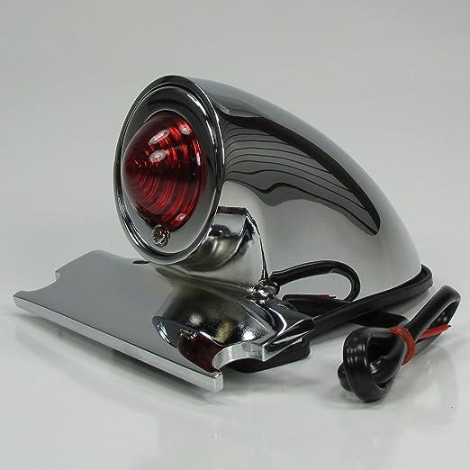 Chrome Sparto Retro Style Tail Brake Light Lamp For Harley Chopper Bobber 12V