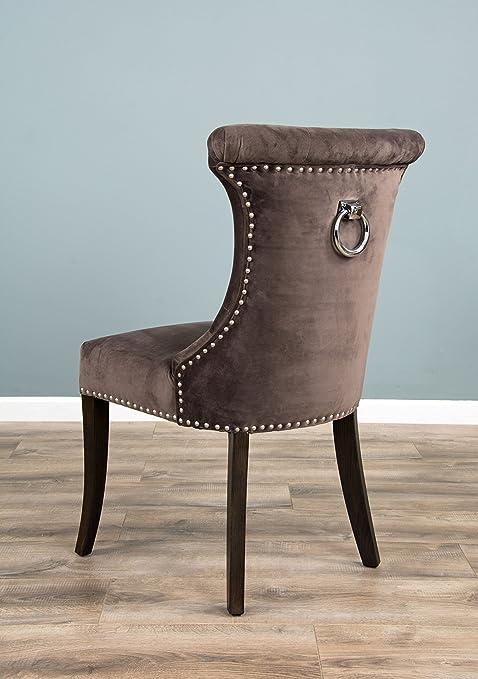 The Velveteen Ring Back Dining Chair   Stone