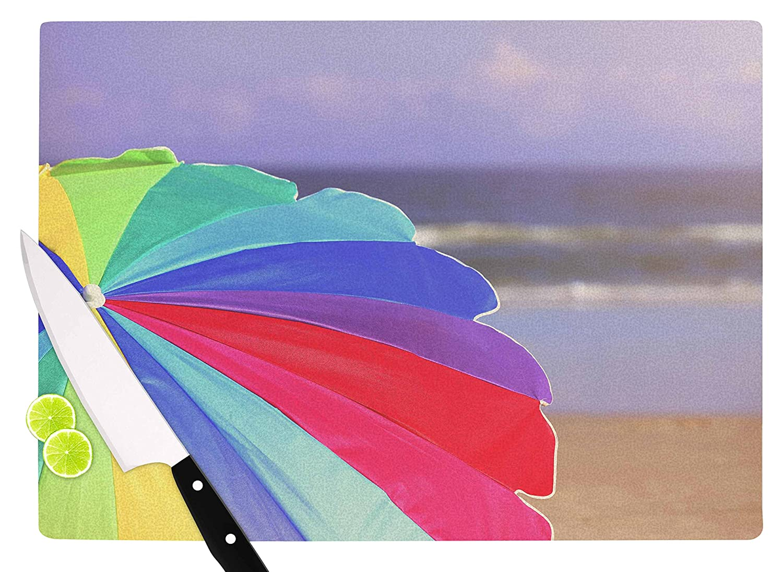 Multicolor 11.5 x 15.75 KESS InHouse Angie TurnerBeach Umbrella-Coastal Photography Cutting Board