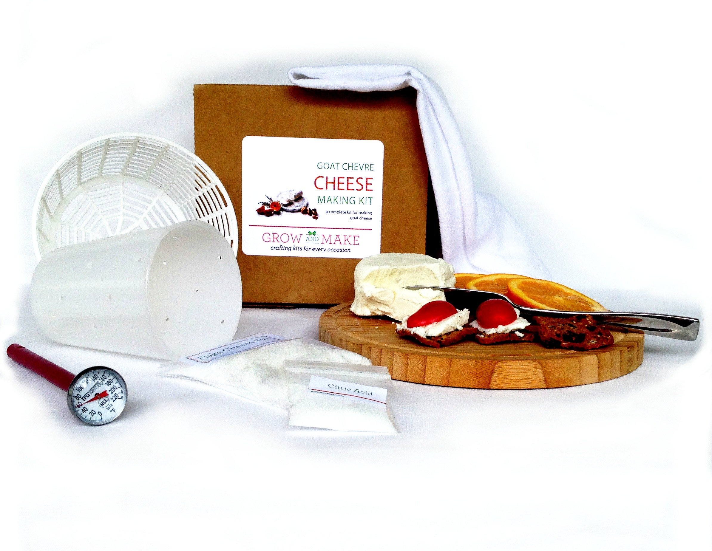 Artisan DIY Goat Chevre Cheese Making Kit - Learn how to make home made goat cheese