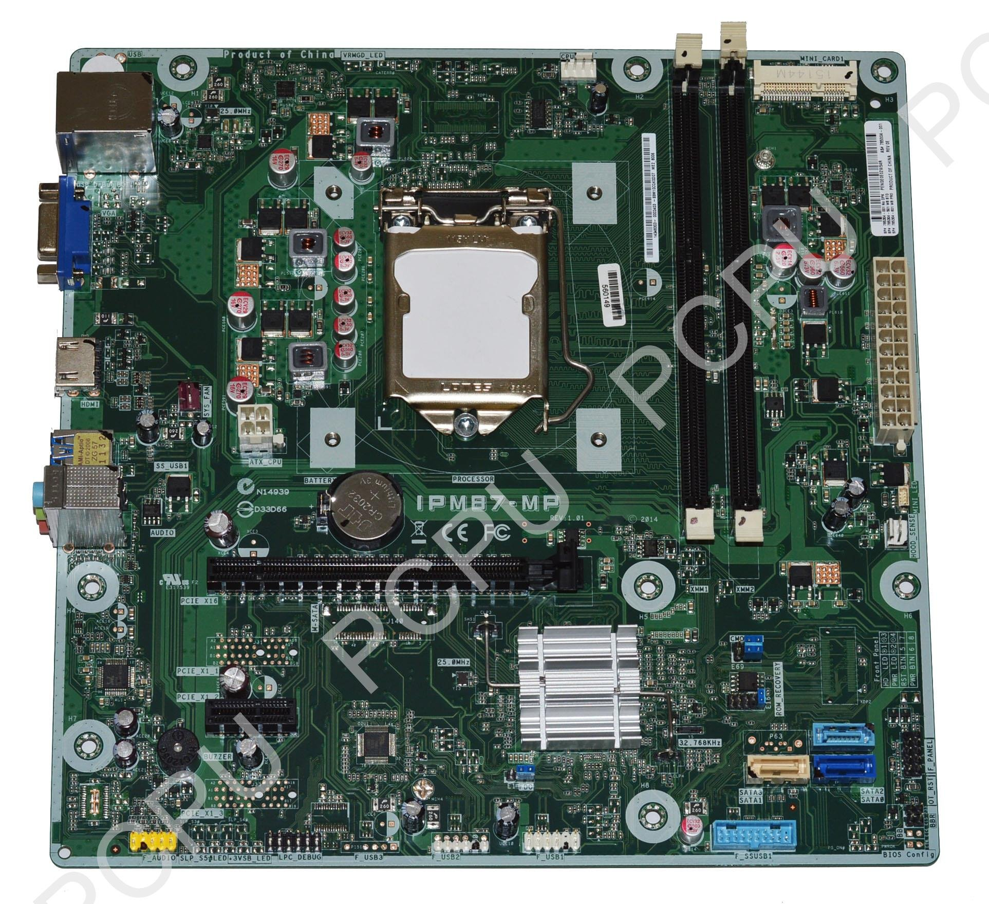 785304-501 HP Envy 500/550 Memphis2-S Intel Desktop Motherboard s115X