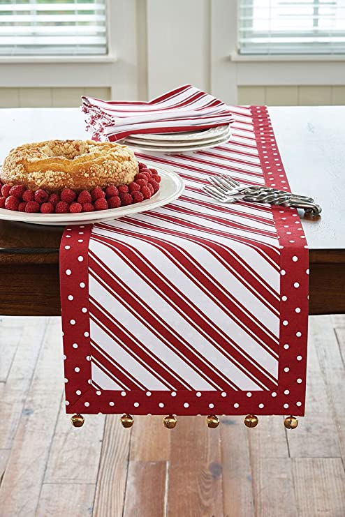 Park Designs Peppermint Candy 36 Inch Table Runner