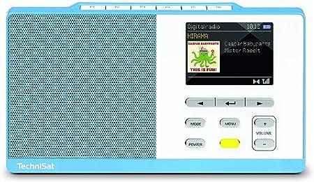 Technisat Digitradio Kira 1 Tragbares Dab Radio Dab Ukw Radiowecker Farbdisplay Favoritenspeicher Kopfhöreranschluss Sechs Frei Belegbare Direktwahltasten Hellblau Weiß Heimkino Tv Video