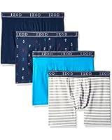 Izod Men's 4pk Cotton Stretch Boxer Brief-Anchors