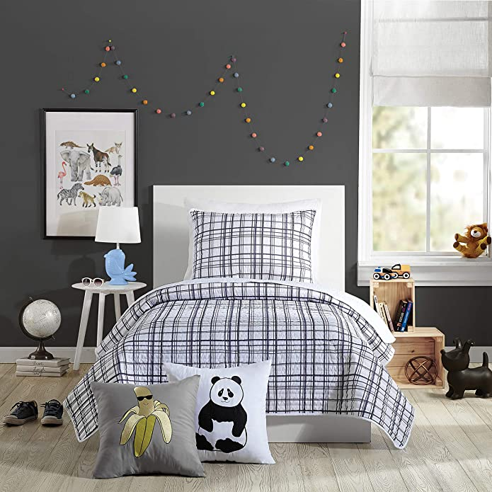 2Pc Twin Marquis Quilt Set Charcoal - Urban Playground