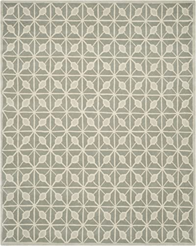 Safavieh Issac Mizrahi Collection IMR506B Handmade Dark Grey and Taupe Premium Wool Area Rug 8 x 10