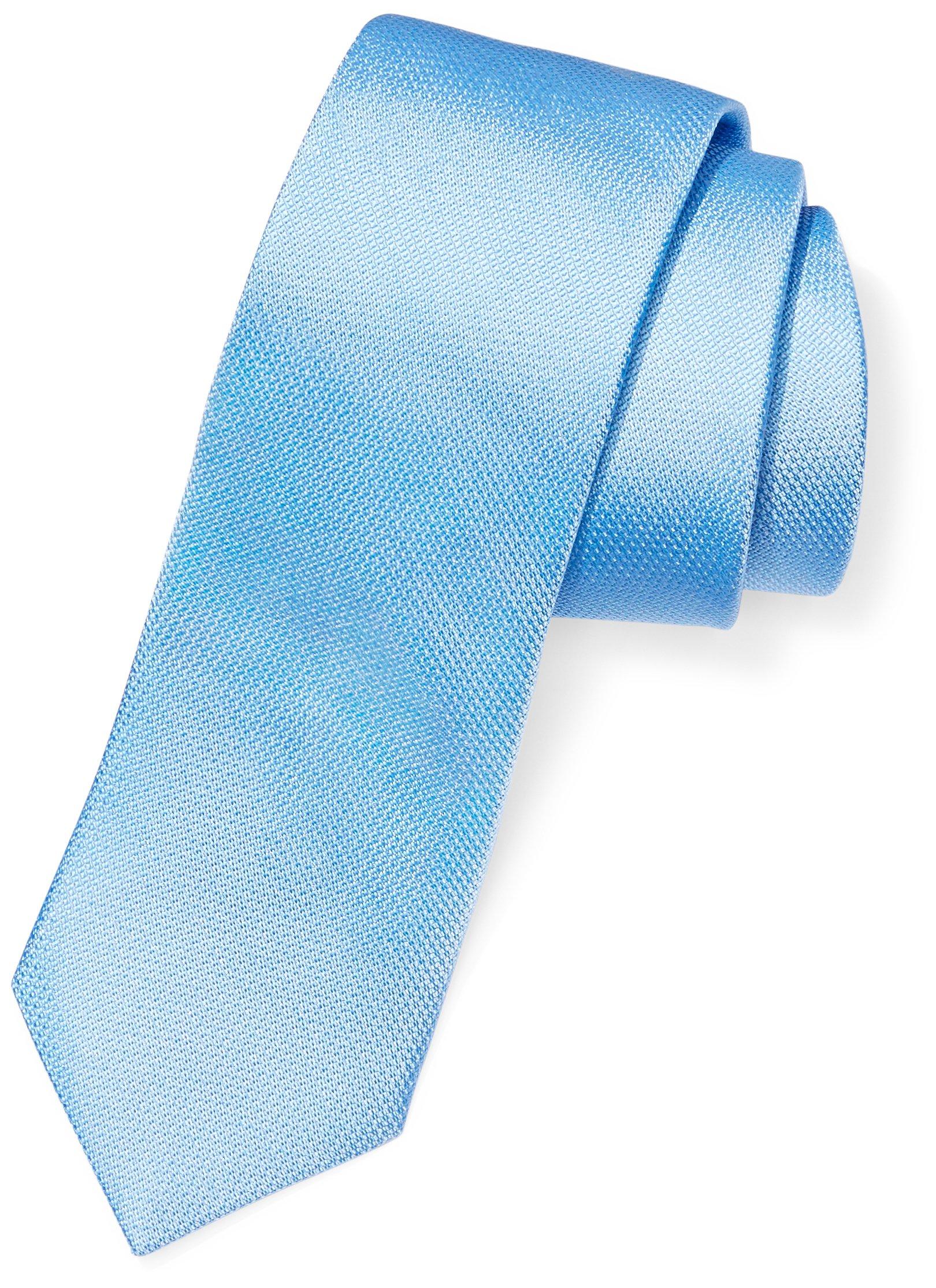 Buttoned Down Men's Classic Silk 3'' Necktie, Light Blue Texture, Regular