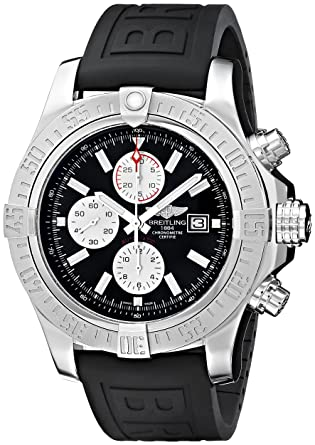 12357538bd4 Image Unavailable. Image not available for. Color  Breitling Men s  BTA1337111-BC29BKPD3 Super Avenger II Analog Display Swiss Automatic Black  Watch