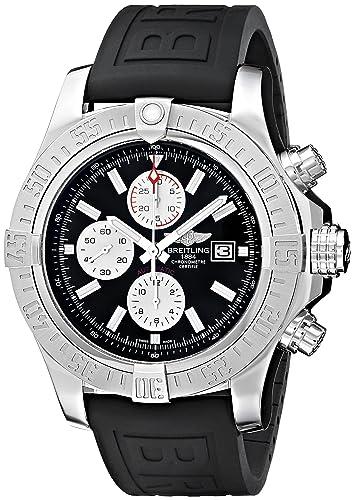 Breitling Men s BTA1337111-BC29BKPD3 Super Avenger II Analog Display Swiss Automatic Black Watch