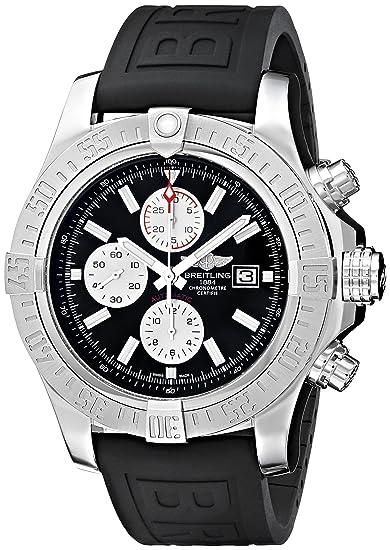 Breitling de hombre bta1337111-bc29bkpd3 Super Avenger Ii pantalla analógica Swiss - Reloj automático negro: Breitling: Amazon.es: Relojes