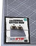 iPrimio Cat Litter Mat, Modern Plaid Design, Prevents Cat Litter Scatter, Jumbo Size(42in x 36in)
