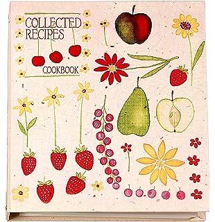 Marvelous Meadowsweet Kitchens Recipe Card Cookbook Organizer   Fruit U0027n Flowers