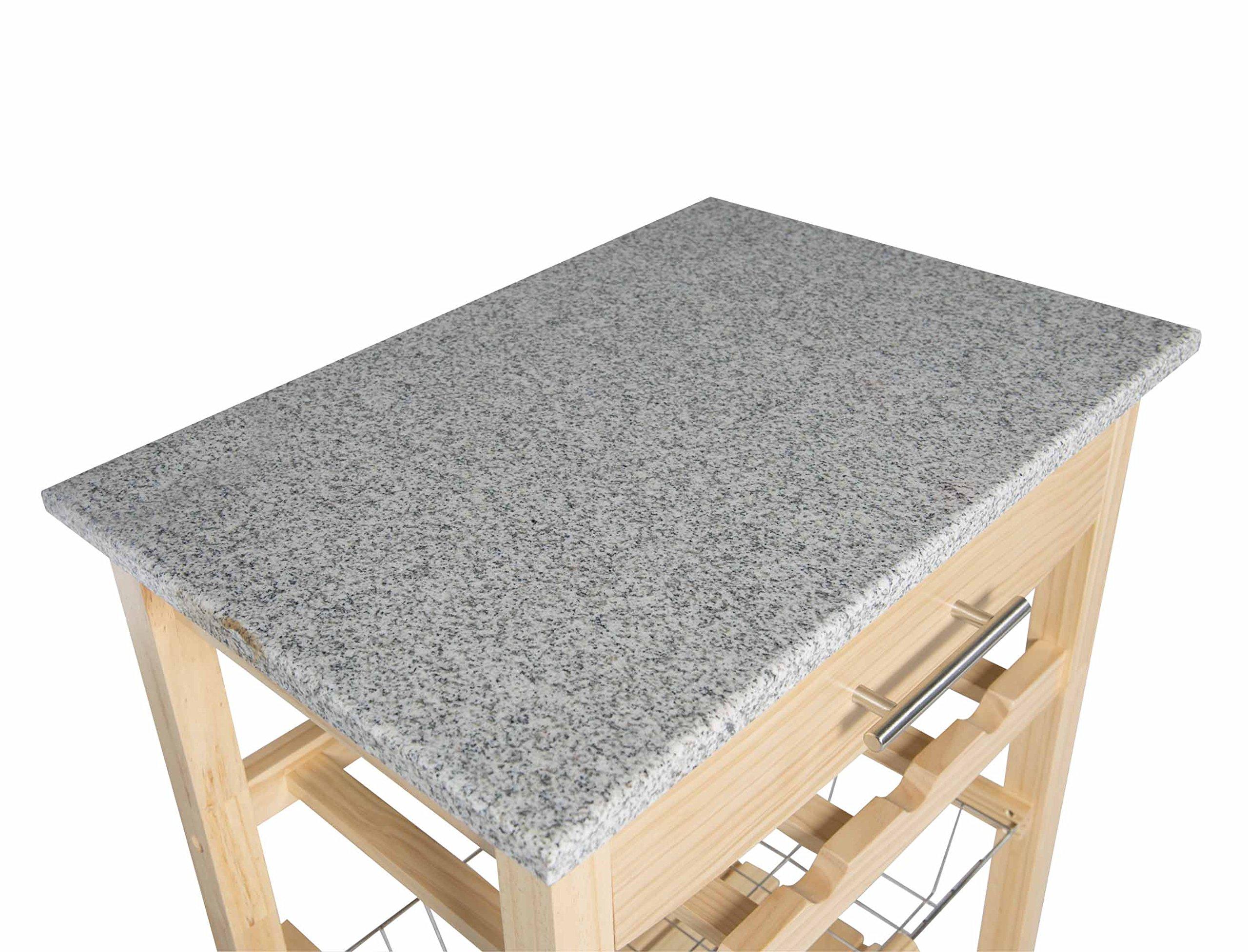 Linon Kitchen Island Granite Top by Linon (Image #4)