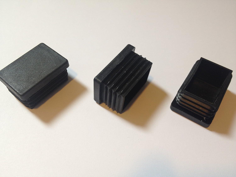 Lamellenstopfen Rechteckrohr 35x25 WS 1.0-2.25 St/ückzahl schwarz 20