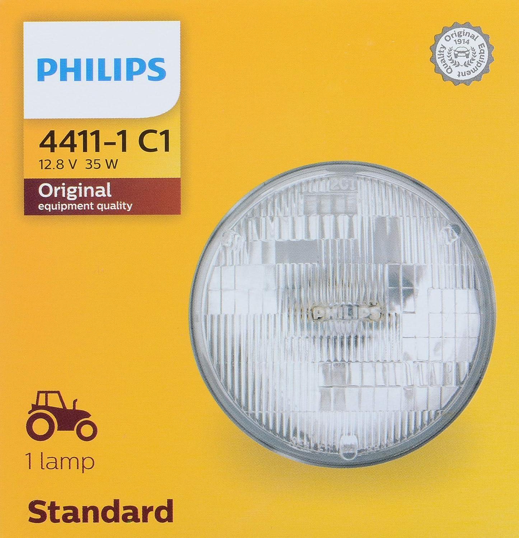 PHILIPS 4411C1 Standard Incandescent Sealed Beam headlamp, 1 Pack