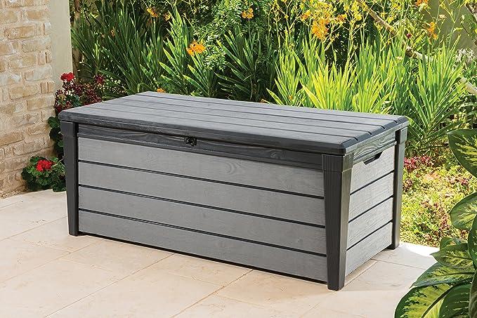 Keter Arcón de y Universal Brushwood Box, 455 L, Antracita/Gris: Amazon.es: Jardín