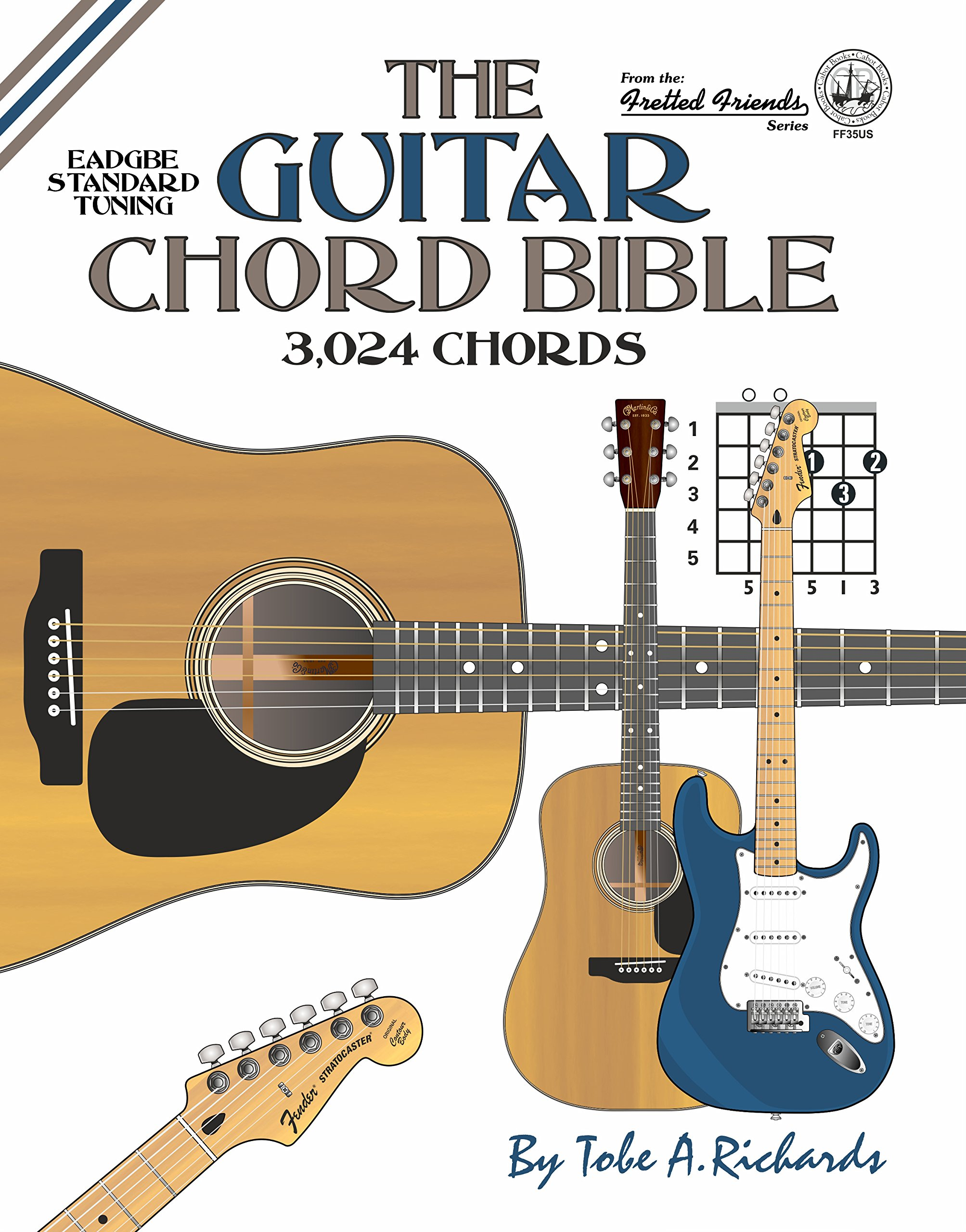 The Guitar Chord Bible Standard Tuning 3024 Chords Fretted Friends