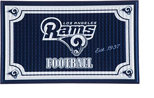 Team Sports America 41EM3828B LA Rams Embossed Door Mat