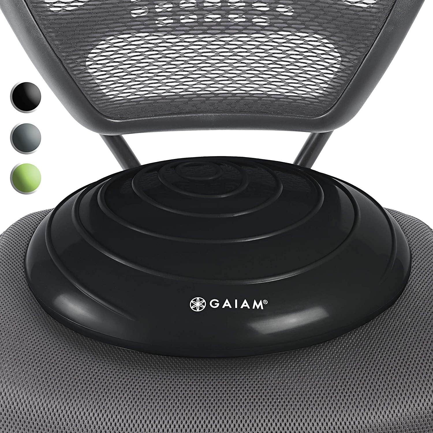 Gaiam Balance Disc Wobble Cushion Stability Core Trainer for Home or Office Desk Chair & Kids Alternative Classroom Sensory Wiggle Seat (Renewed)