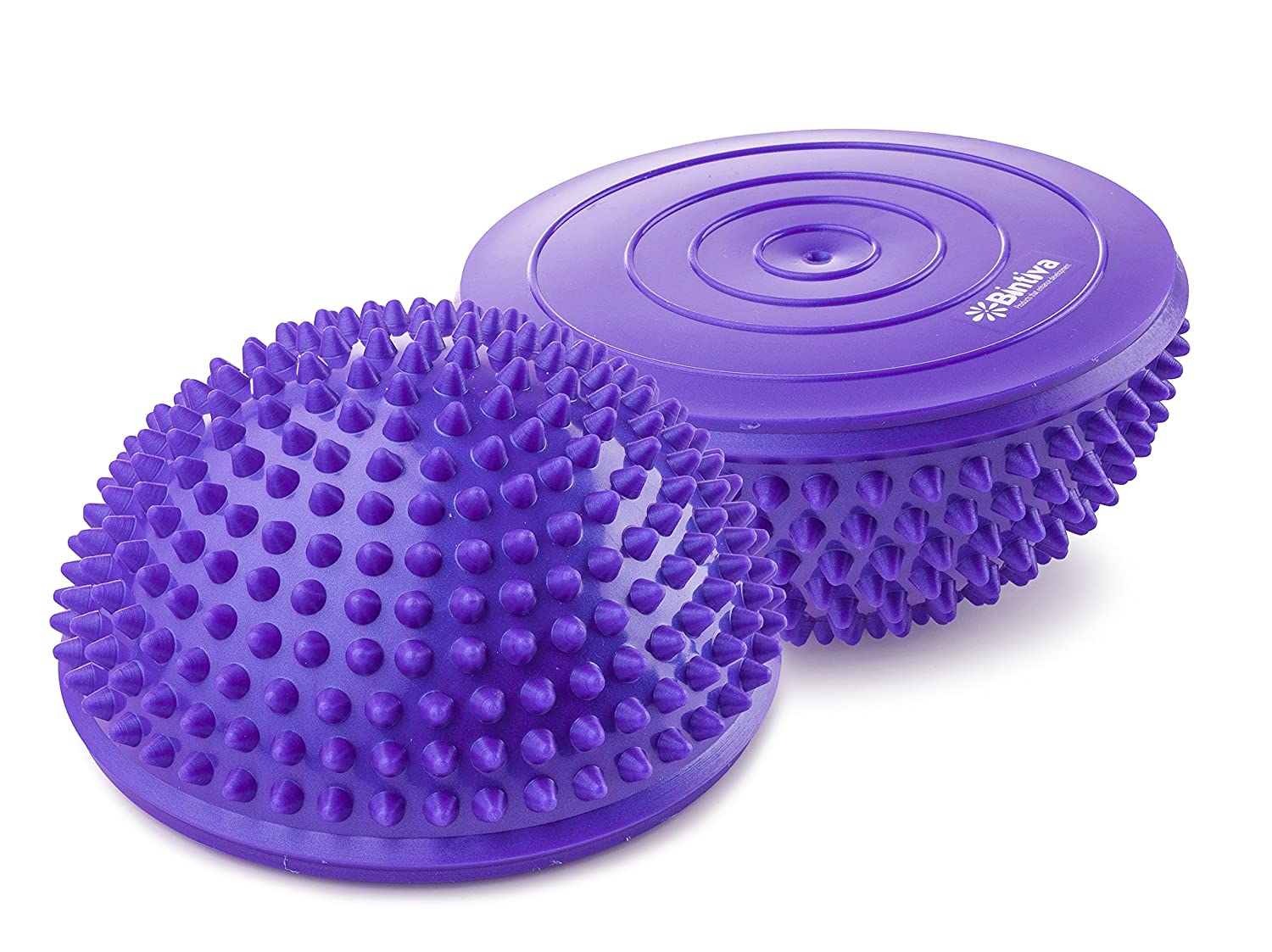 bintiva Balance Pods Set – 1 Pair Hedgehog Style Domed Stability Pods for Children and Adults