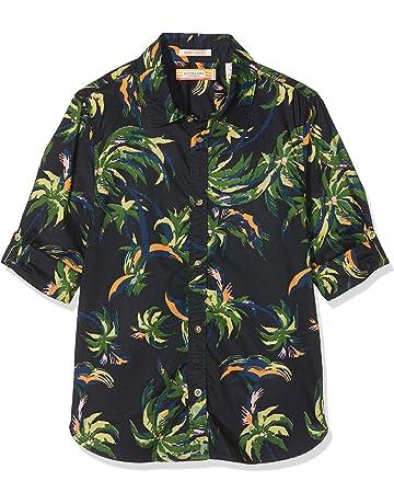 d8b09a63a Scotch & Soda Boy's Regular Fit All-Over Printed Shirt in Lightweight Cotton  Qua Blouse