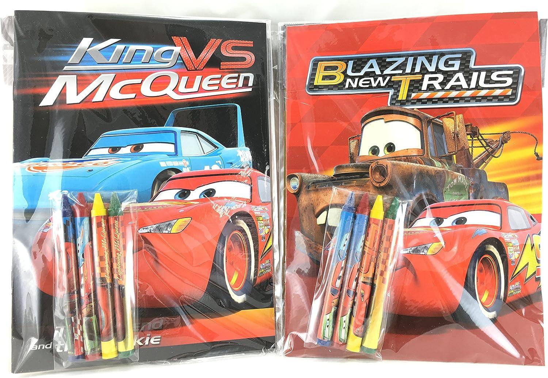 24 pcs Disney Pixar Cars Coloring Book /& 96 Crayon Set Boys Gift Bag Filler