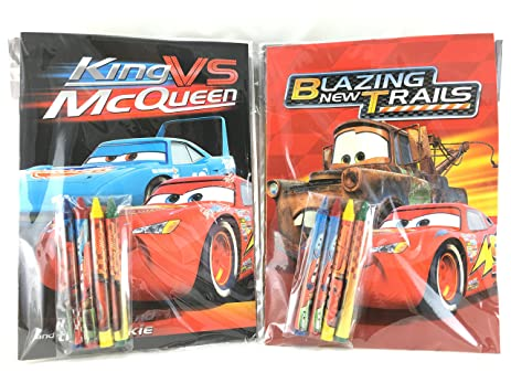 Party Favors Disney Cars Coloring Book Crayon Set 12 Pack Assorted Style
