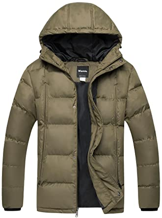 Wantdo Men's Puffer Jacket Warm Heavyweight Quilted Hooded ... : are quilted jackets warm - Adamdwight.com
